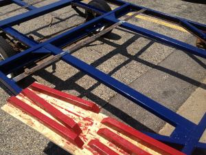 Beautifully painted trailer frame