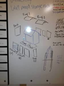 Building plans on our idea board